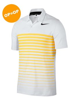 Nike Dry Polo HTHR Stripe - Wit/Oranje