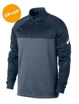 Nike Heren THRMA Half Zip Top - Navy/Grijs
