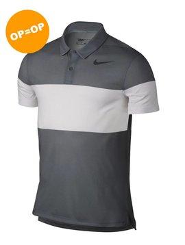 Nike Dry Block Polo - Donker Grijs/Wit