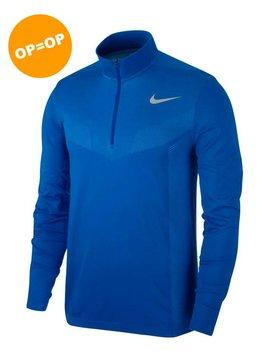 Nike Dry Top Half Zip Seemless - Blauw