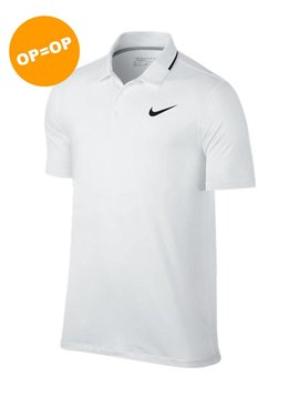 Nike Heren Dry Polo Solid - Wit