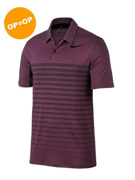 Nike Dry Polo HTHR Stripe - Bordeaux