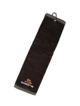 Cobra Tri-Fold Towel - Zwart