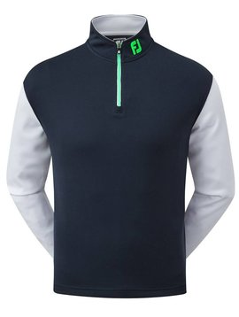 FootJoy Color Block Chill-Out Pullover - Navy/Wit