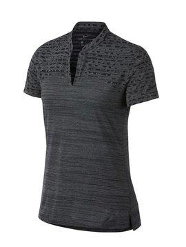 Nike Dames Zonal Cooling Polo - Zwart