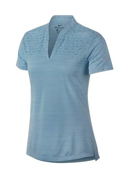 Nike Dames Zonal Cooling Polo - Ocean Bliss