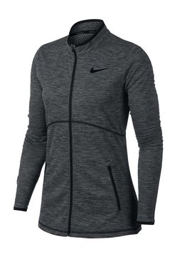 Nike Dames Dry full Zip Top - Zwart