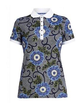 Rohnisch AOP Polo Shirt - Blue Flower