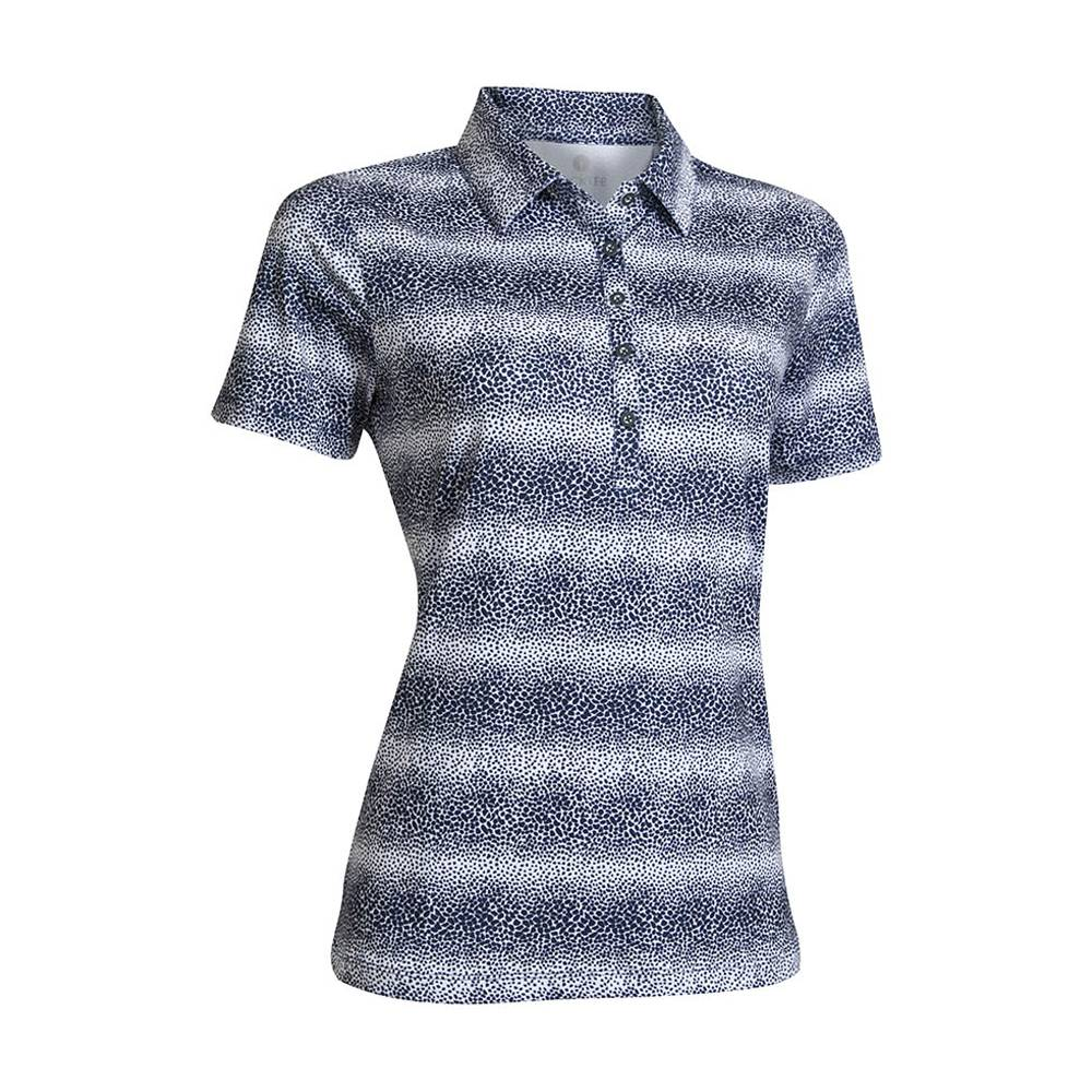 BackTee Printed Quick Dry UV Polo - Navy