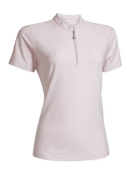 BackTee Melange QuickDry Polo - Roze