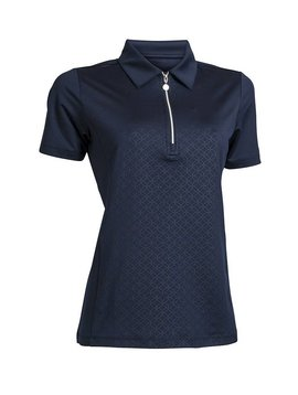 BackTee Embossed Polo - Navy