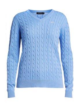 Rohnisch Cable Pullover - Licht Blauw