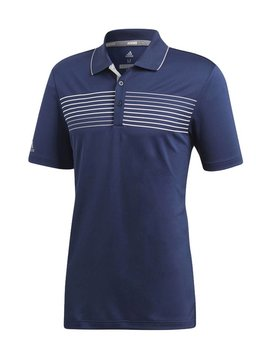 Adidas essent textured polo - Navy/Grijs