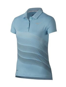 Nike Girls Dry Print Polo - Ocean Bliss