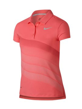 Nike Girls Dry Print Polo - Roze