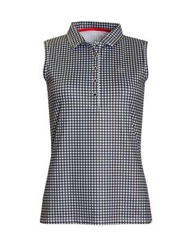 Calvin Klein Checkered Sleeveless Polo - Wit/Zwart