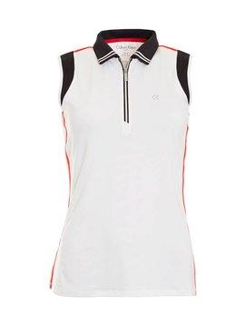 Calvin Klein Haven Sleeveless Polo - Wit/Zwart