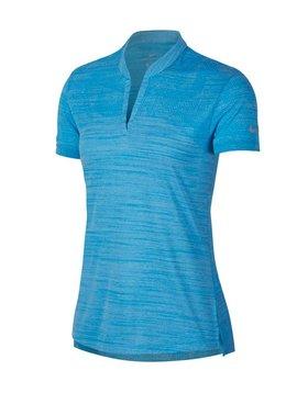 Nike Dames Zonal Cooling Polo - Blauw