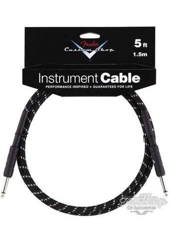 Fender Fender Custom Shop Performance Series Instrument Kabel 3m Black Tweed Straight-Straight