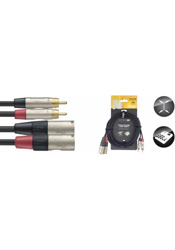 Stagg Stagg NTC3CMXMR 3M Twin Cable RCA-XLR