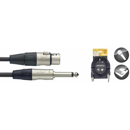 Stagg Stagg NMC3XPR Microphone Cable XLR Female - Jack Mono Male