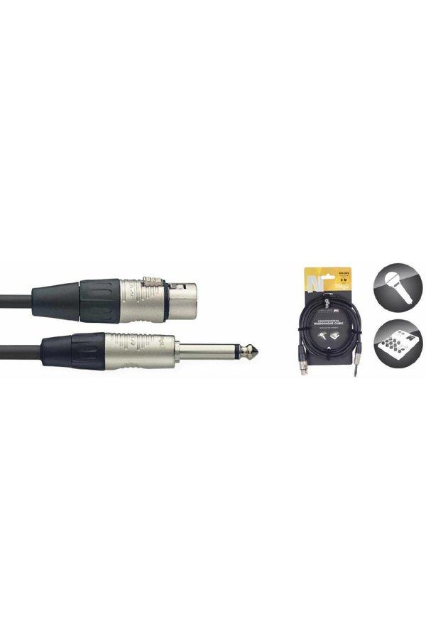 Stagg NMC3XPR Microphone Cable XLR Female - Jack Mono Male