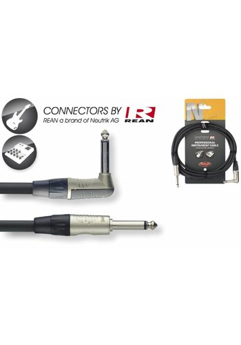 Stagg Stagg NGC6PLR 6M Instrument Cable - Jack-Jack Angled