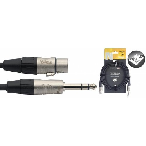 Stagg Stagg NAC3PSXFR 3M Audio Cable Stereo Jack Male - XLR Female