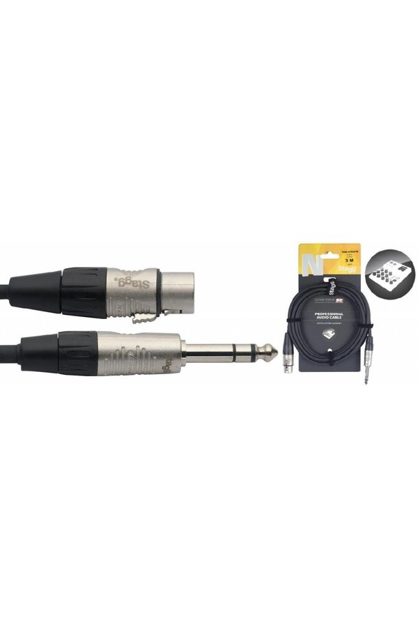 Stagg NAC3PSXFR 3M Audio Cable Stereo Jack Male - XLR Female