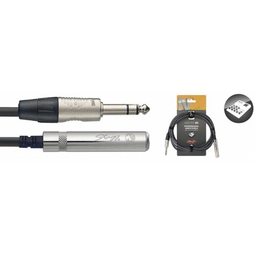 Stagg Stagg NAC3PSJSR 3M Cable Stereo Jack Male - Stereo Jack Female