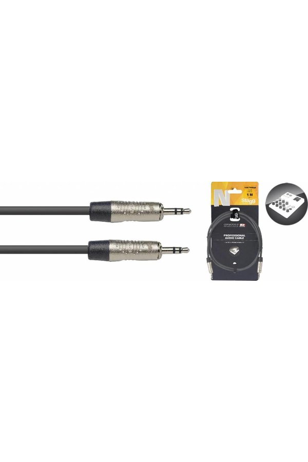Stagg NAC1MPSR 1M Audiokabel Mini Stereo Jack