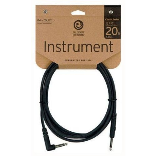 Planet Waves Planet Waves Classic Series Instrument Cable, Right Angle Plug, 20ft, 6,1m, NEW