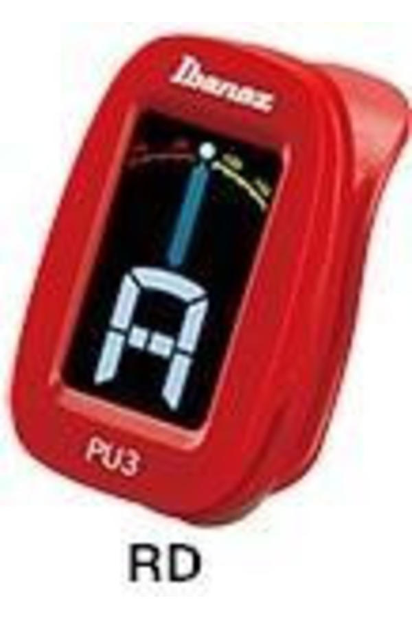 Ibanez PU3 Clip-on Tuner rood