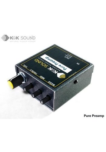 K&K Sound K&K Pure Preamp (with optonial Belt Clip)