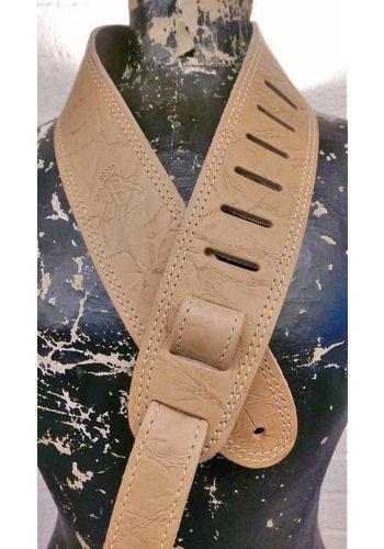 Bayus Bayus Leren Gitaarband Custom Tan Elephant genuine leather