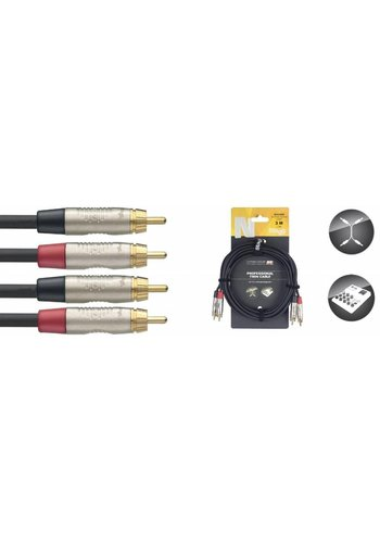 Stagg Stagg NTC3CR 3M Twin Cable RCA-RCA