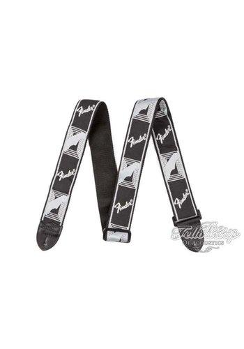 Fender Fender 2inch Monogrammed Gitaarband zwart/lichtgrijs/donkergrijs
