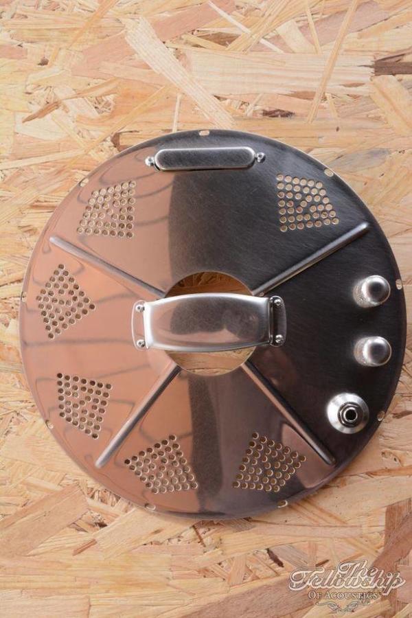 National Hotplate Rubbed Nickel pickup for Resonator