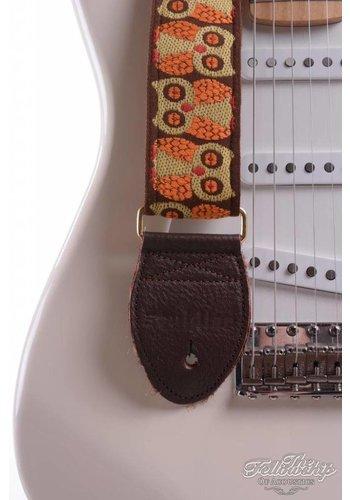 Souldier Souldier Guitar Strap - Two Owls Brown