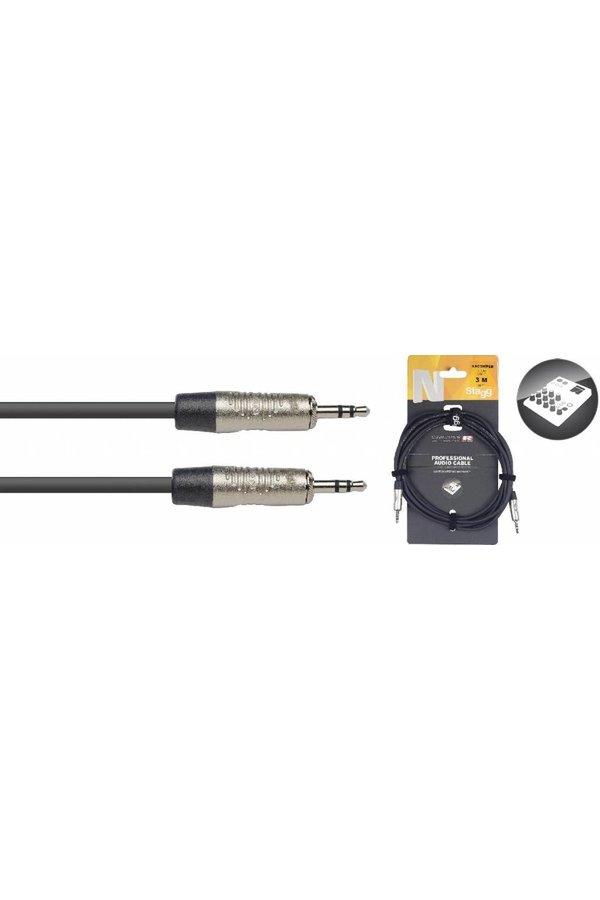 Stagg NAC3MPSR 3M Audiokabel Mini Stereo Jack