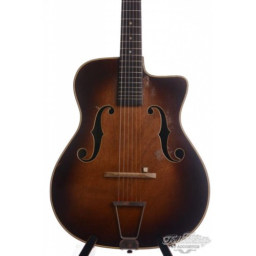 Couesnon Couesnon Model 3054 vintage Gypsy Flattop sunburst (1950s) Sold as is