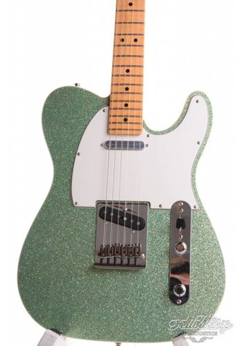 Fender Fender Am Custom Deluxe Telecaster Sparkle Seafom Green AAA Flame Neck