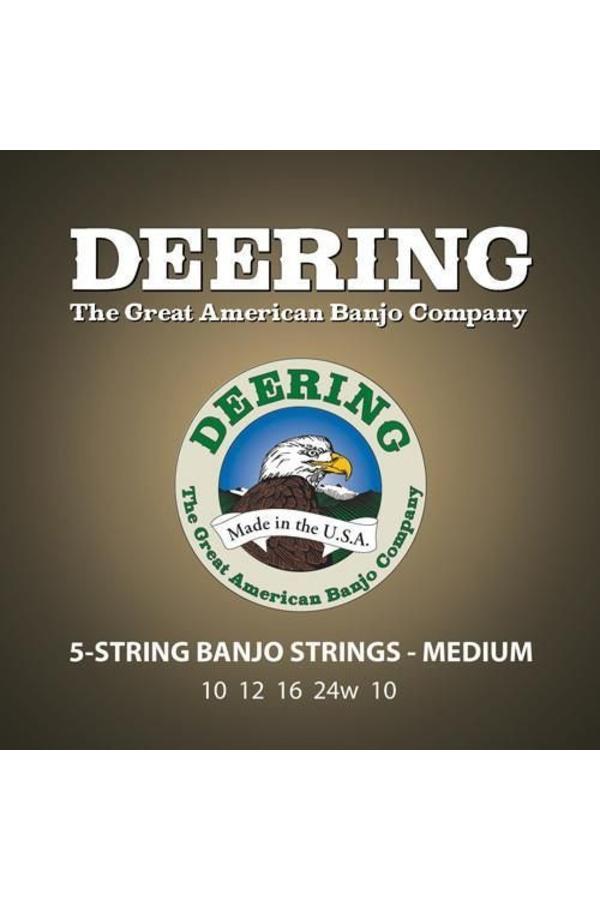 Deering Medium Gauge 5-string Banjo Strings