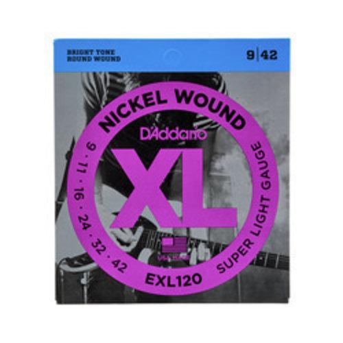 D'addario D'Addario EXL120 Nickel Wound Super Light 9-42
