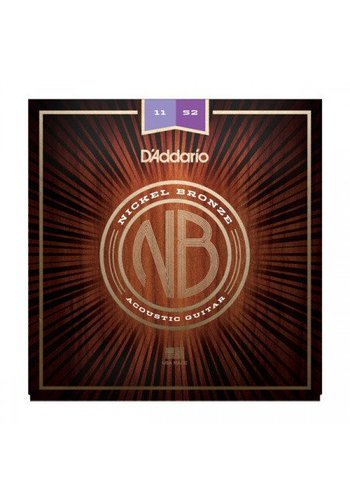 D'addario D'Addario NB1152 Nickel Bronze Acoustic Guitar Strings Custom Light 11-52
