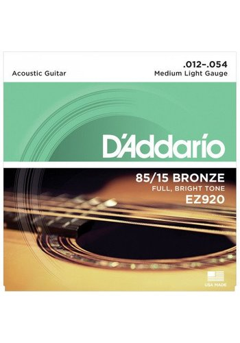 D'Addario D'Addario EZ920 85/15 Bronze Medium Light 12-54