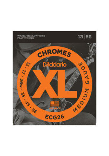 D'Addario D'Addario ECG26 chromes Flat Wound Medium 13-56
