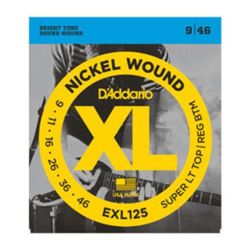 D'addario D'Addario EXL125 Nickel Wound Super Light Top/ Regular Bottom 9-46