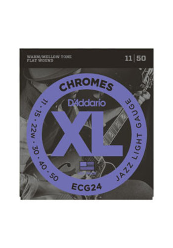 D'Addario D'Addario ECG24 Chromes Flat Wound Jazz Light 11-50