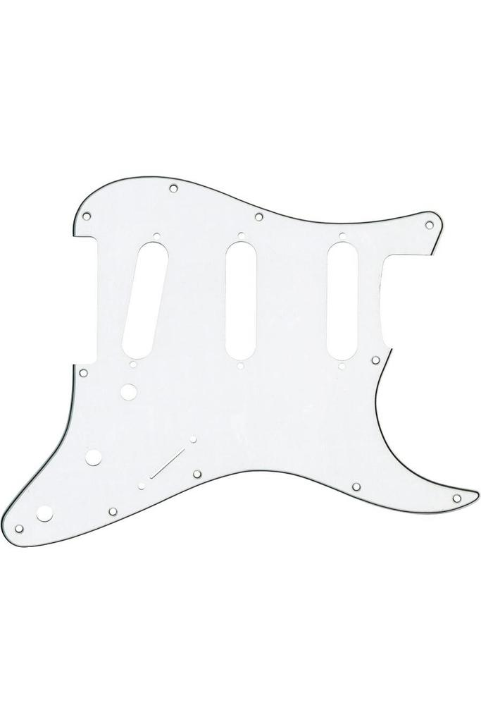 Fender Genuine Parts Pick Guard Strat SSS  11HL White-Black-White